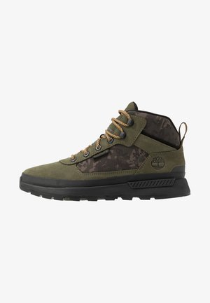 FIELD TREKKER MID - Lace-up ankle boots - dark green