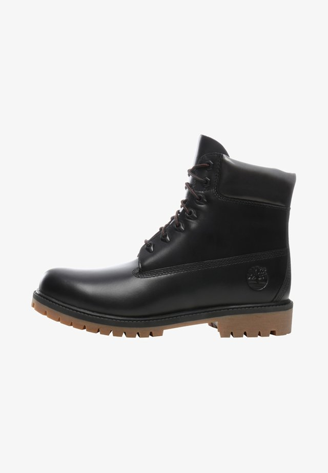 HERITAGE  - Lace-up ankle boots - jet black