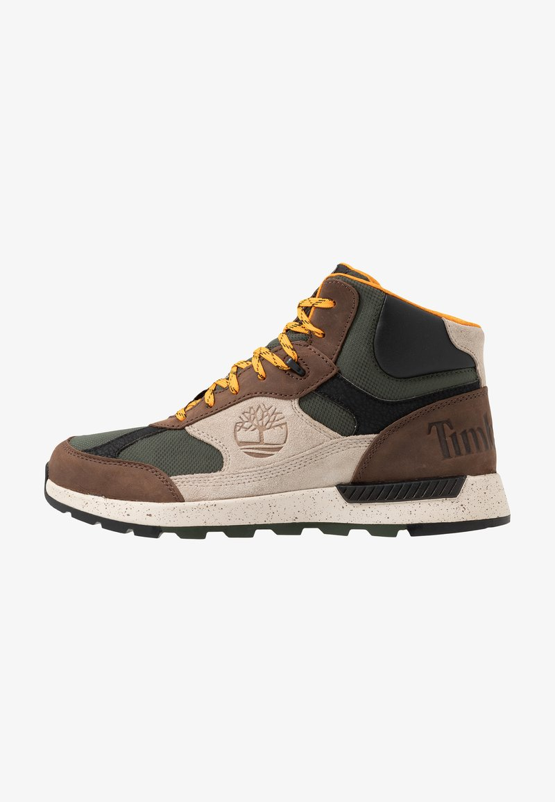 Timberland - FIELD TREKKER - Lace-up ankle boots - dark brown/light taupe