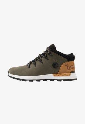 SPRINT TREKKER - Korkeavartiset tennarit - dark green/wheat