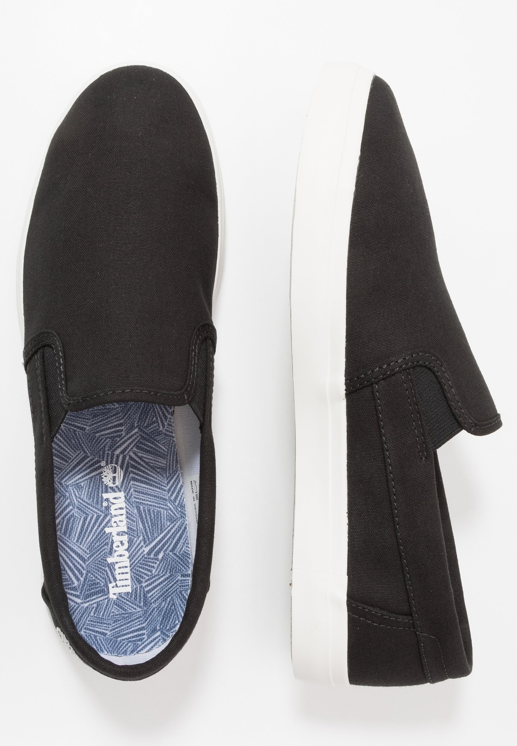 Timberland Union Wharf - Slippers Black Canvas