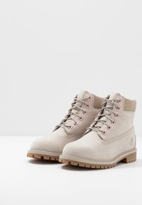 Timberland - 6 IN PREMIUM WP BOOT - Lace-up ankle boots - light taupe - 3
