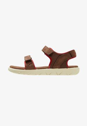 NUBBLE STRAP - Sandals - dark brown