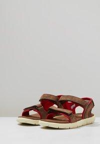 Timberland - NUBBLE STRAP - Sandals - dark brown - 3