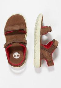 Timberland - NUBBLE STRAP - Sandals - dark brown - 0