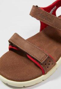 Timberland - NUBBLE STRAP - Sandals - dark brown - 2