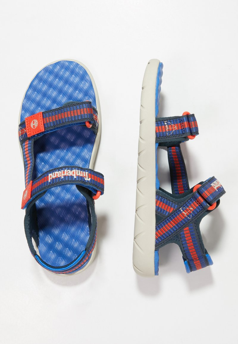 Timberland - PERKINS ROW WEBBING - Sandals - bright blue