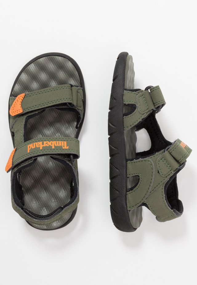 PERKINS ROW 2 STRAP - Walking sandals - dark green