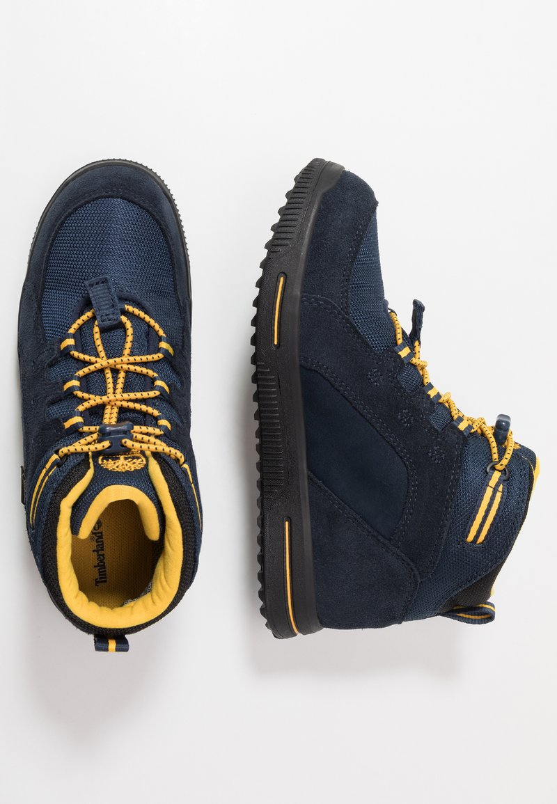 Timberland - CITY STOMP BUNGEE MID GTX - Lace-up ankle boots - navy