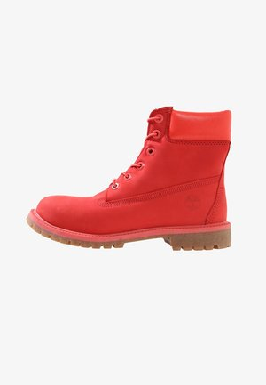 6 IN PREMIUM - Lace-up ankle boots - tomato red