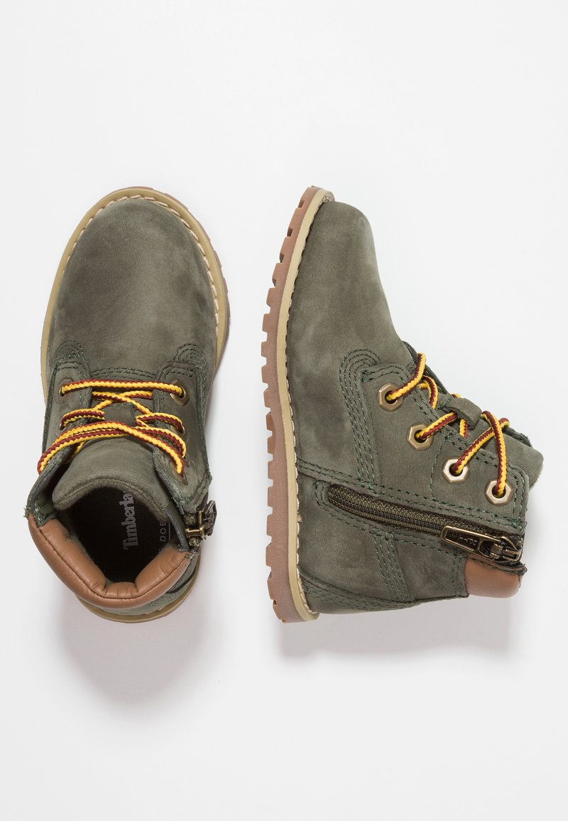 Timberland - CASUAL POKEY PINE 6IN BOOT WITH SIDE ZIP - Lace-up ankle boots - dark green