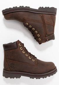 Timberland - COURMA TRADITIONAL - Šněrovací kotníkové boty - dark brown - 0