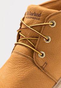 Timberland - CHUKKA WP - Casual lace-ups - wheat - 2