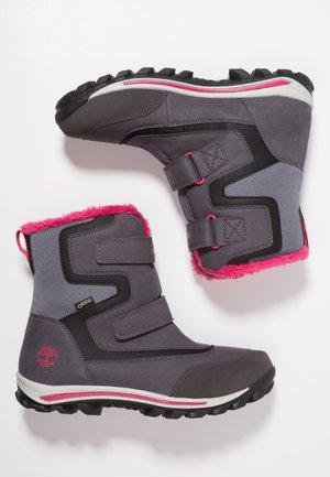 OUTDOOR CHILLBERG 2-STRAP GTX - Winter boots - dark grey/pink