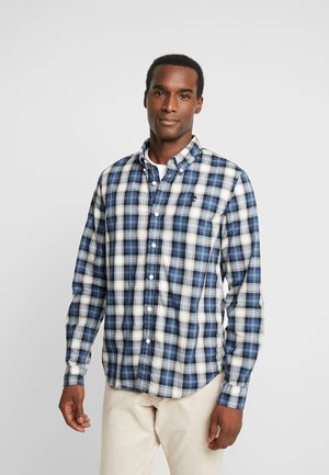 EASTHAM RIVER STRETCH TARTAN SLIM FIT - Overhemd - dark denim