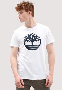 Timberland - SS KENNEBEC  - T-shirt med print - white - 0
