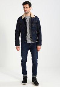 Timberland - CREW CHEST - Basic T-shirt - grey heather - 1