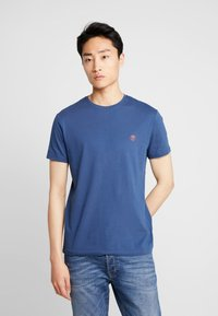 Timberland - CREW CHEST - Basic T-shirt - dark denim - 0