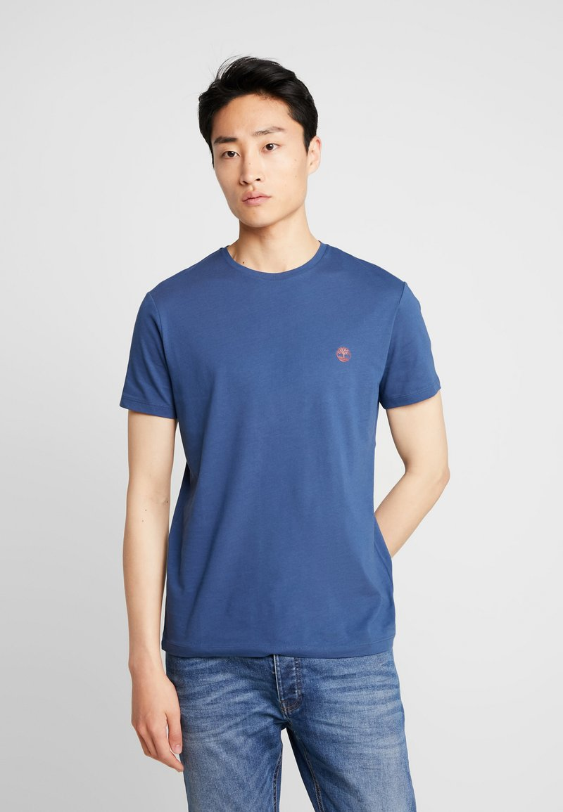 Timberland - CREW CHEST - Basic T-shirt - dark denim