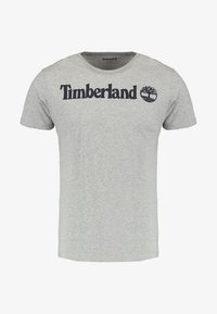 Timberland - CREW LINEAR  - Print T-shirt - grey heather - 4
