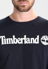 Timberland - CREW LINEAR  - Print T-shirt - dark sapphir - 3