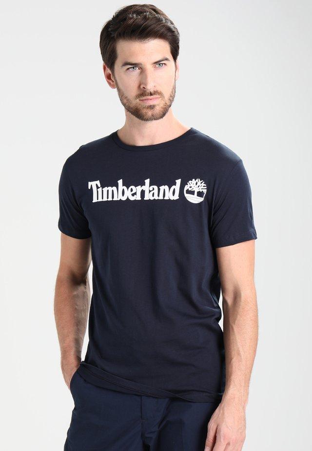 CREW LINEAR  - Print T-shirt - dark sapphir