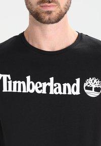 Timberland - CREW LINEAR  - Printtipaita - black - 3