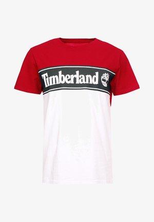CUT & SEW TEE - T-shirt z nadrukiem - barbados cherry/white