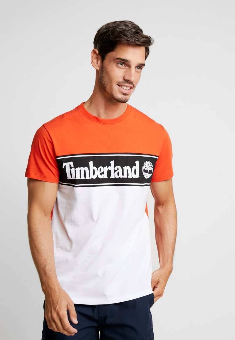 Timberland - CUT & SEW TEE - T-Shirt print - spicy orange
