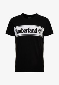 Timberland - CUT & SEW TEE - Print T-shirt - black - 3
