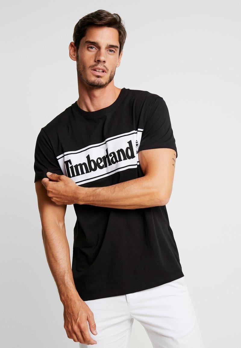 Timberland - CUT & SEW TEE - Print T-shirt - black