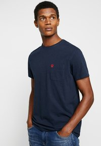 Timberland - DUNSTAN RIVER POCKET SLIM TEE - T-shirt basic - dark sapphire - 0