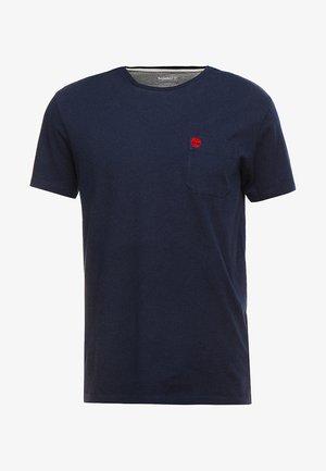 DUNSTAN RIVER POCKET SLIM TEE - T-shirt basique - dark sapphire