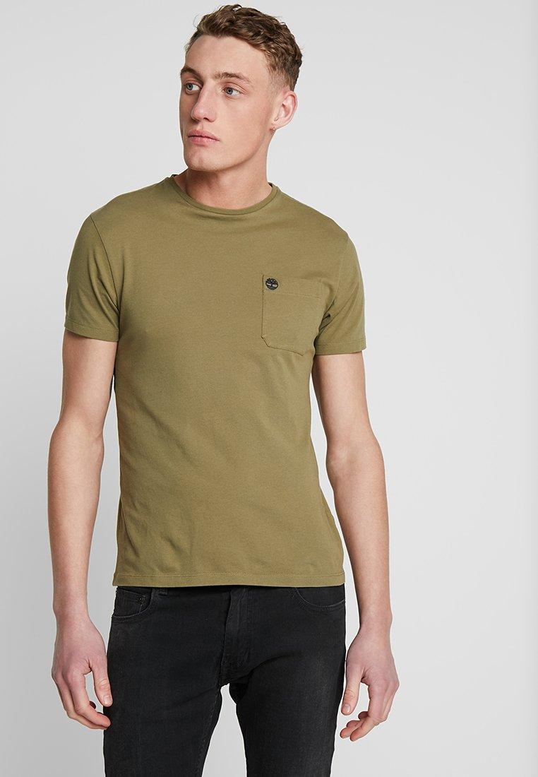 Timberland - DUNSTAN RIVER POCKET SLIM TEE - Basic T-shirt - martini olive