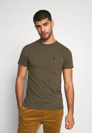 DUNSTAN RIVER POCKET SLIM TEE - T-shirt basic - grape leaf