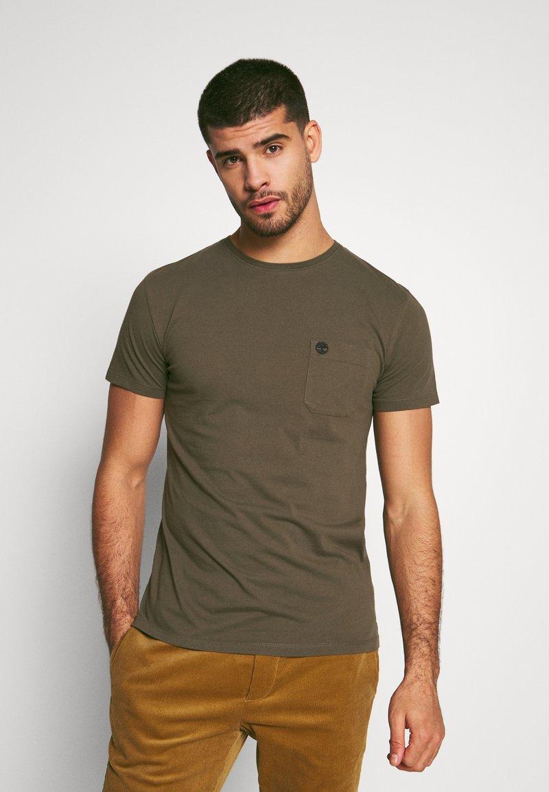 Timberland - DUNSTAN RIVER POCKET SLIM TEE - T-shirt basic - grape leaf