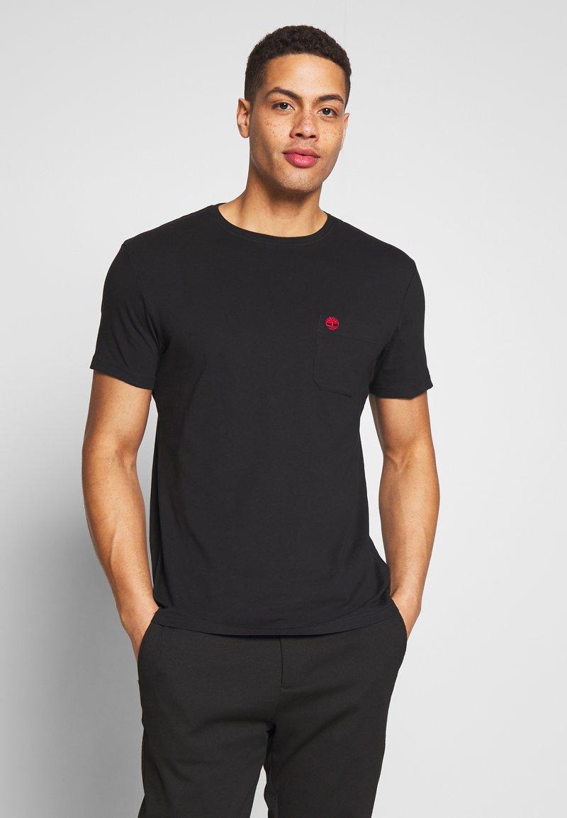 Timberland - DUNSTAN RIVER POCKET SLIM TEE - Basic T-shirt - black