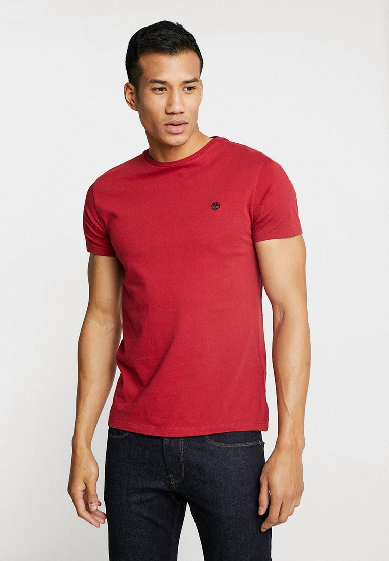 Timberland - DUNSTAN CREW TEE - T-shirt basic - rio red