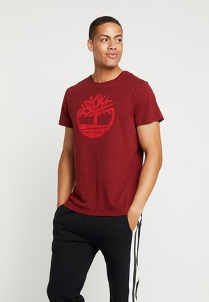 KENNEBEC RIVER BRAND REGULAR TEE TREE LINEAR - T-shirt con stampa - syrah
