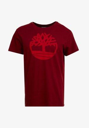 KENNEBEC RIVER BRAND REGULAR TEE TREE LINEAR - T-shirt con stampa - syrah