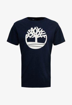 KENNEBEC RIVER BRAND REGULAR TEE TREE LINEAR - Camiseta estampada - dark sapphire