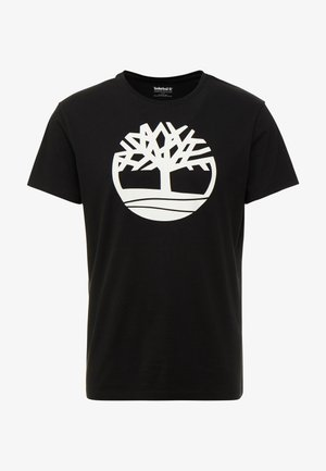 KENNEBEC RIVER BRAND REGULAR TEE TREE LINEAR - T-shirt con stampa - black