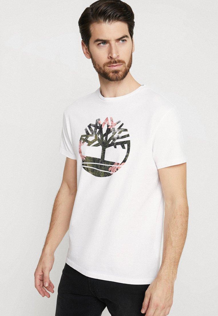 Timberland - KENNEBEC RIVER SLIM TEE TREE - T-Shirt print - white