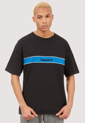 LIFESTYLE STRIPE BOX - T-shirt con stampa - black