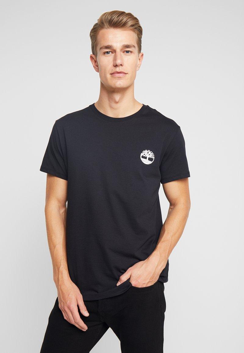 Timberland - LOGO TEE - Print T-shirt - black
