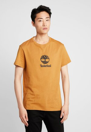 STACK LOGO TEE - Print T-shirt - wheat boot