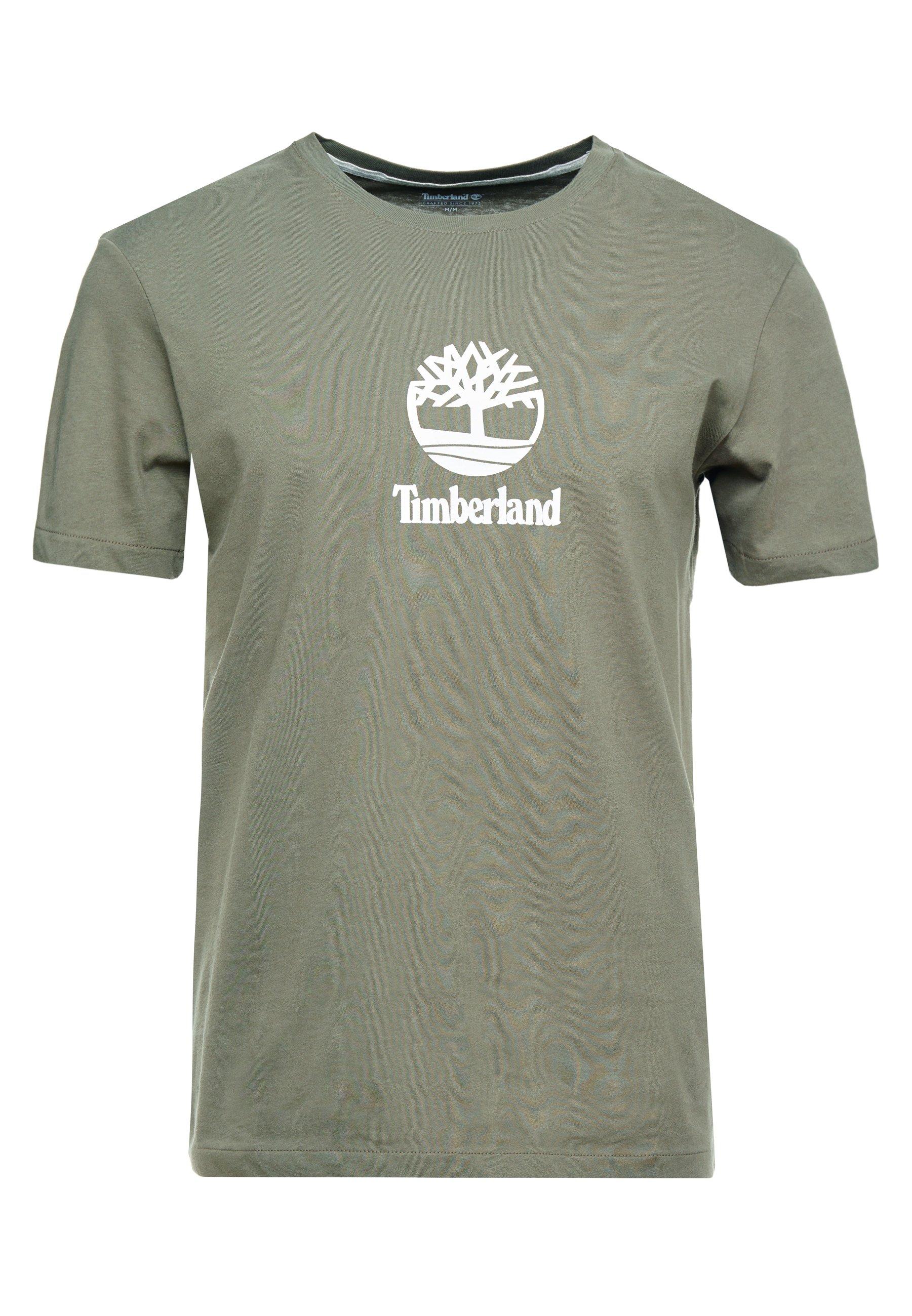 Timberland STACK LOGO TEE - T-shirt z nadrukiem - grape leaf