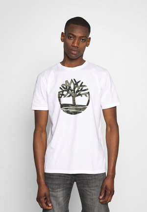 KENNEBEC RIVER CAMO TREE TEE - T-shirt z nadrukiem - white