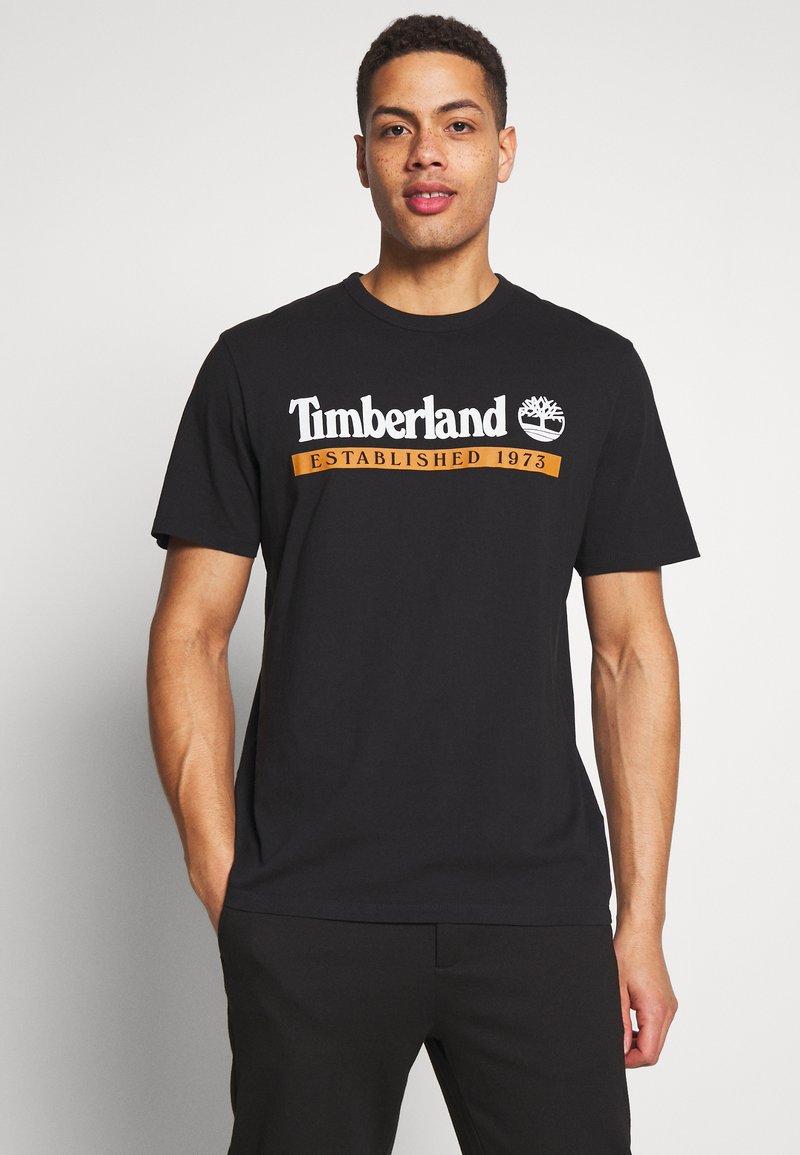 Timberland - ESTABLISHED 1973 TEE - Printtipaita - black