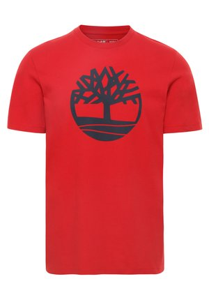KENNEBEC - Print T-shirt - medium red